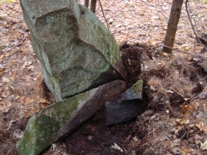 Unusual stone marker found in the woods of Maine
